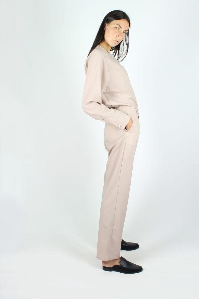 pantalone a sigaretta fresco lana rosa dep 1