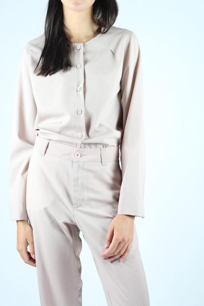pantalone a sigaretta fresco lana rosa dep 2