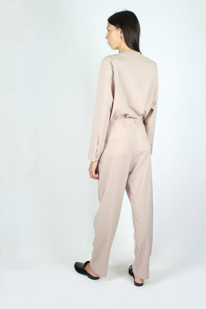 pantalone a sigaretta fresco lana rosa dep 3
