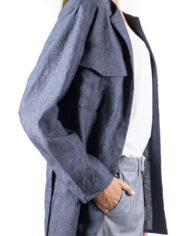 giacca sahariana in cotone con cintura in vita Angy e panatlone a palazzo Carmen Dep 11