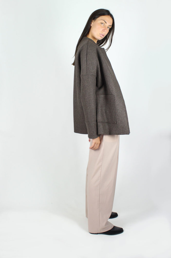 giubbo con zip in panno di lana dep 1