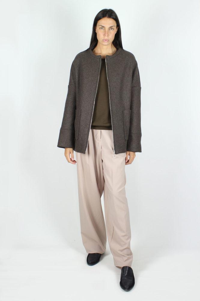 giubbo con zip in panno di lana dep 2