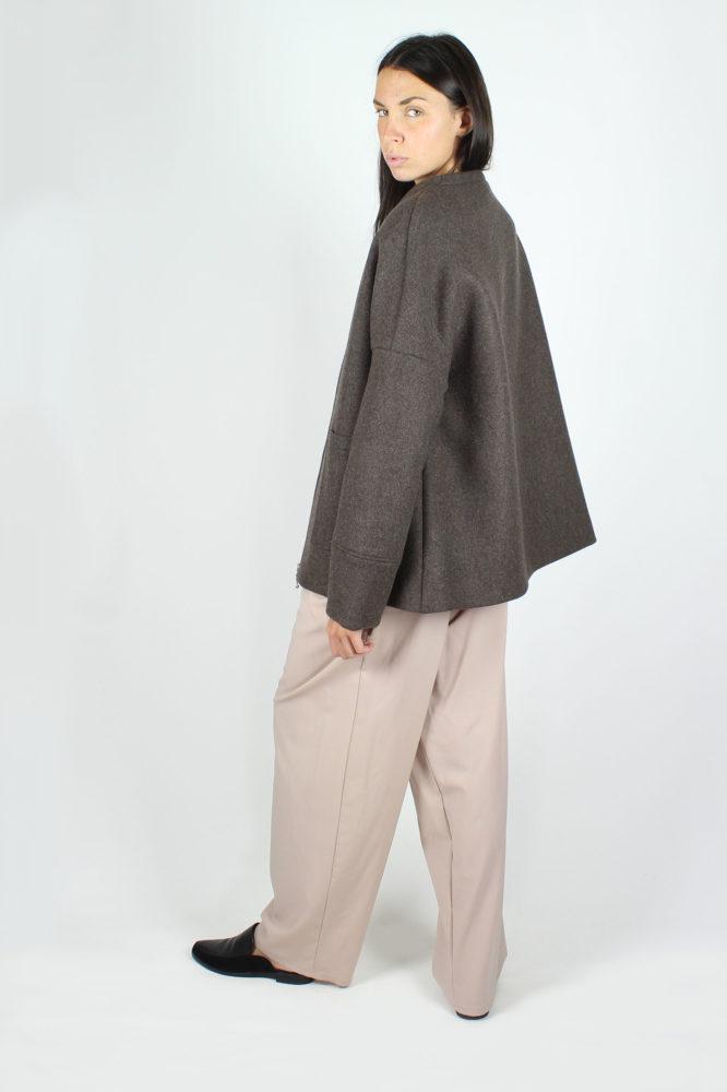 giubbo con zip in panno di lana dep 3
