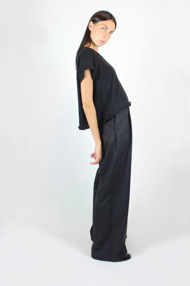 pantalone ampio a vita alta con pince 7