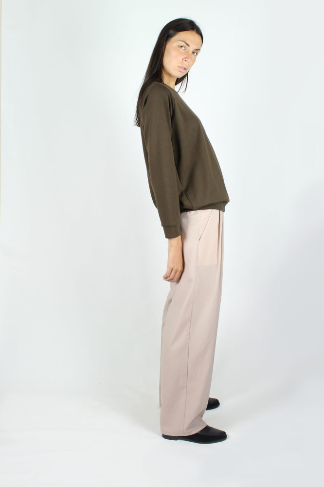 pantalone doppia pinces taglio maschile dep 1