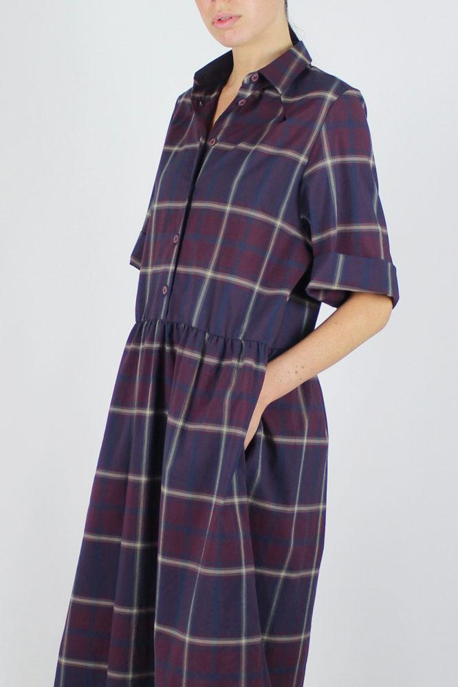 abito camicia ampio lungo con manica corta Alanis Dep 5