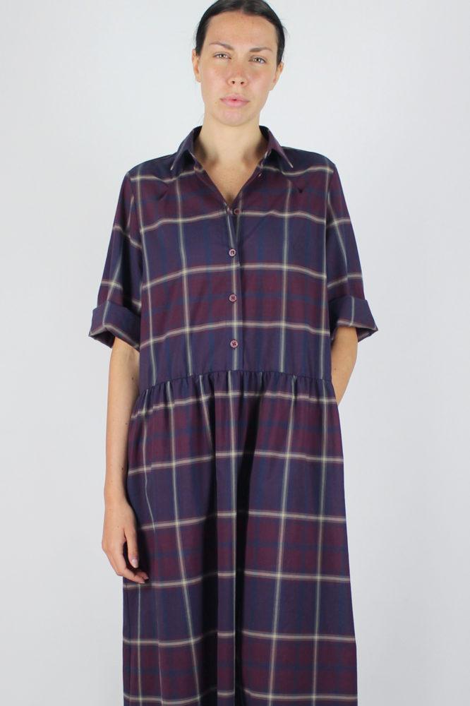 abito camicia ampio lungo con manica corta Alanis Dep 6 copia