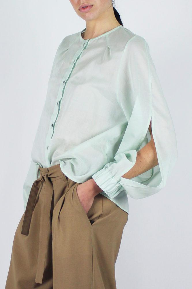 camicia manica lunga in cotone Lorena e pantalone con pinces Cezanne Dep 5 copia