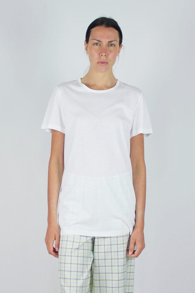 t-shirt base bianca a giro e pantalone palazzo 1 copia